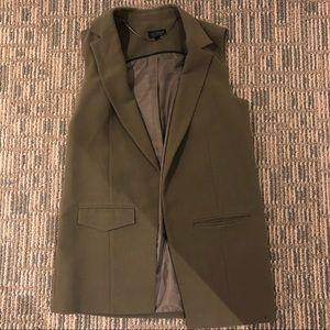 Topshop Olive Green Blazer Vest Size 6
